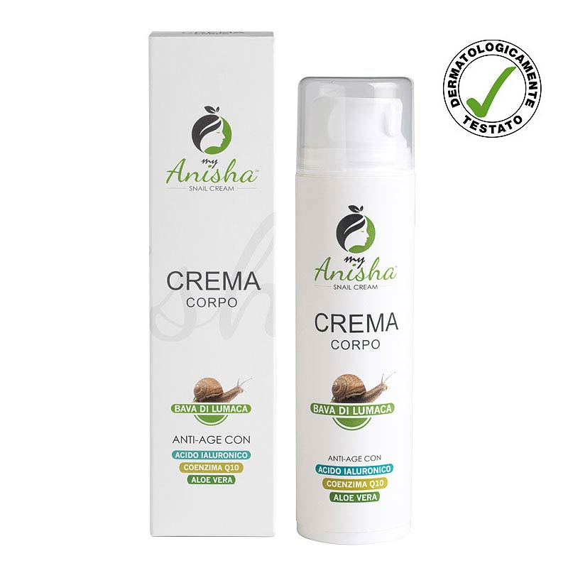 Body cream with snail secretion ideal for stretch marks