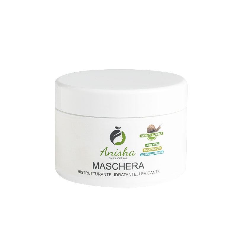 Face mask with regenerating snail extract with Aloe Vera and Hyaluronic