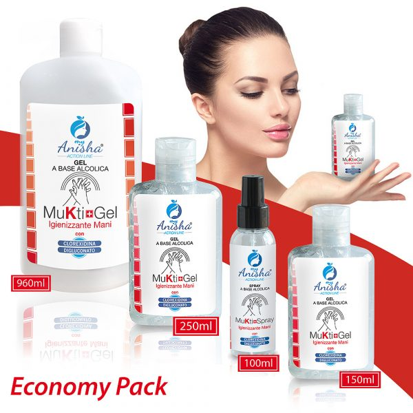 Economy Pack Gel Spray Igienizzante Mani